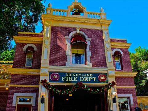 Disneyland fire department brick building