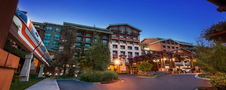 Disney's Grand Californian Hotel at night