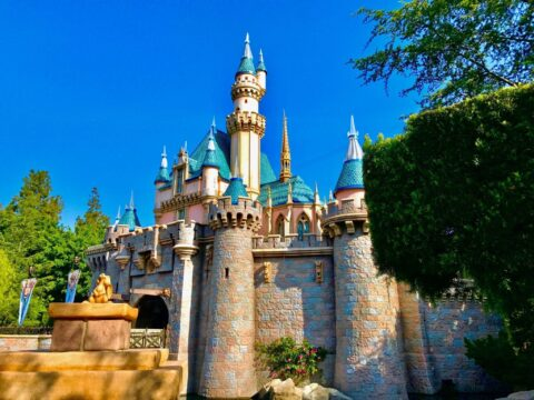 Sleeping Beauty's castle at midday