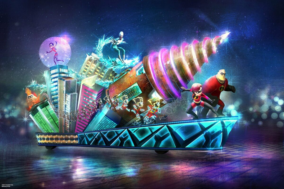 New 'Incredibles' Float to Join 'Paint the Night' Parade on June 23 at Disney California Adventure Park