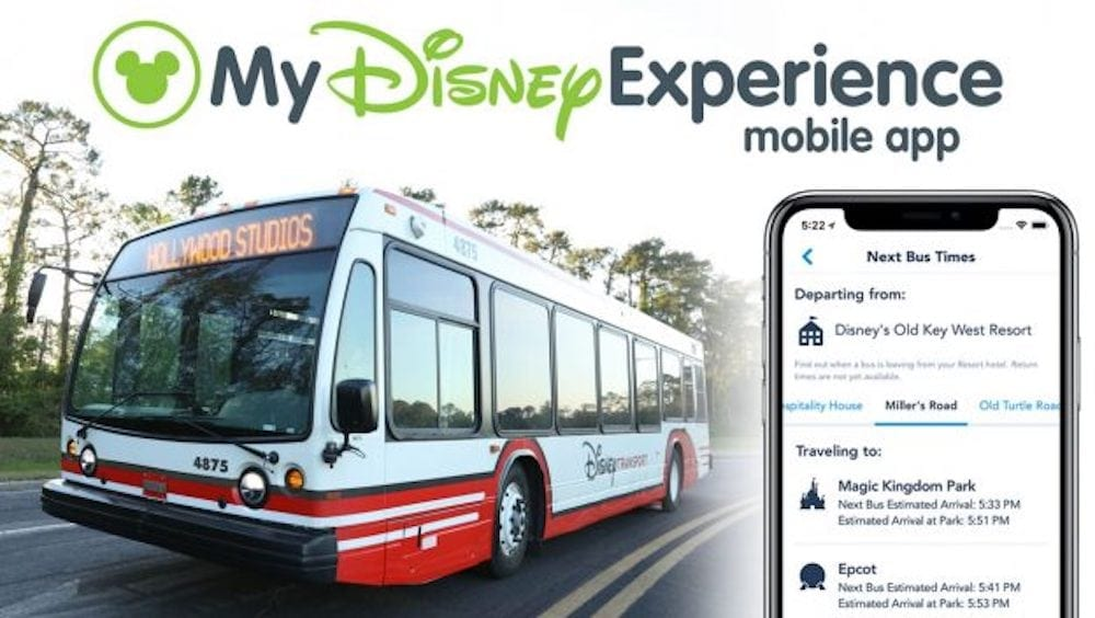 Bus Times at Walt Disney World Resort Now Available in App