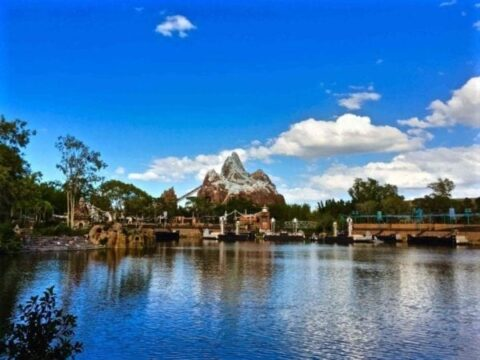 Large Pond Below Expedition Everest Mountain
