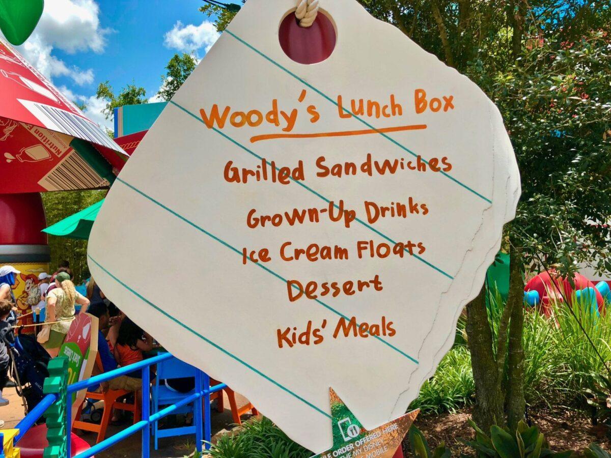 Woody's Lunch Box Menu