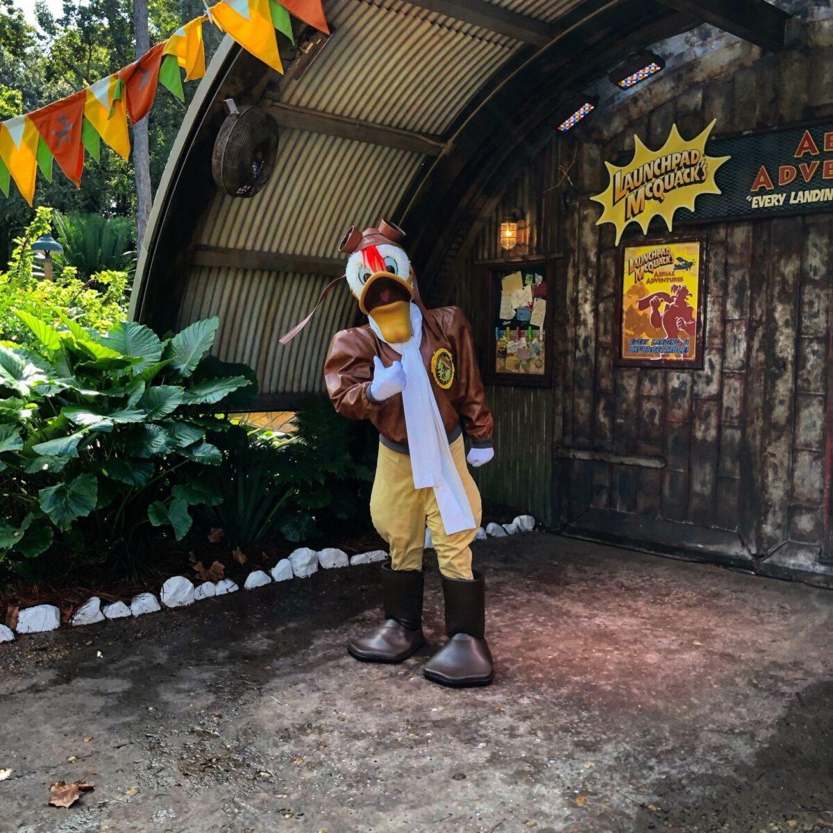 Meet Launchpad McQuack at Disney's Animal Kingdom!