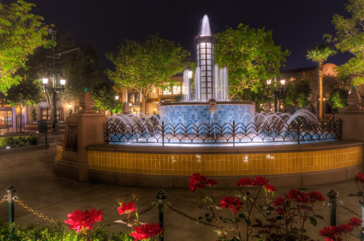 Water Feature in the Evening