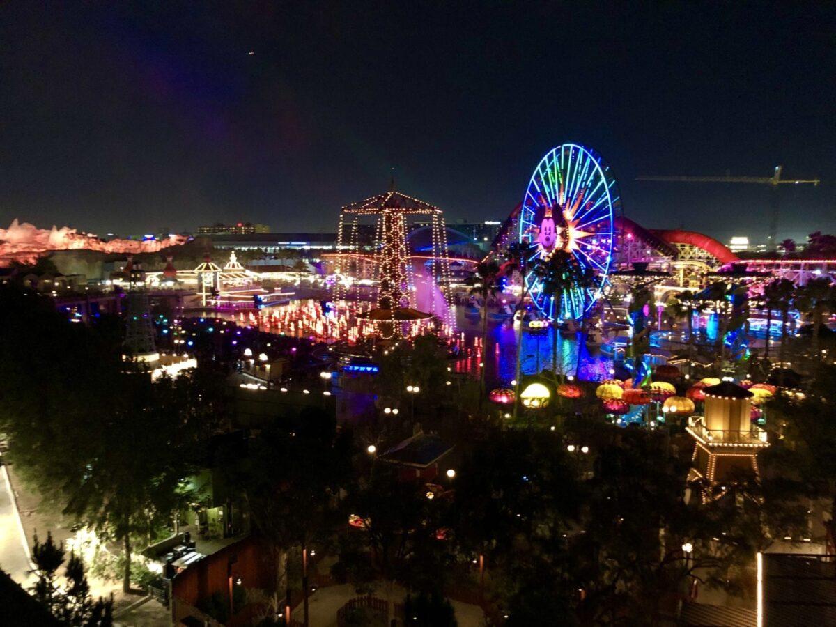 Time lapse of California Adventure Park