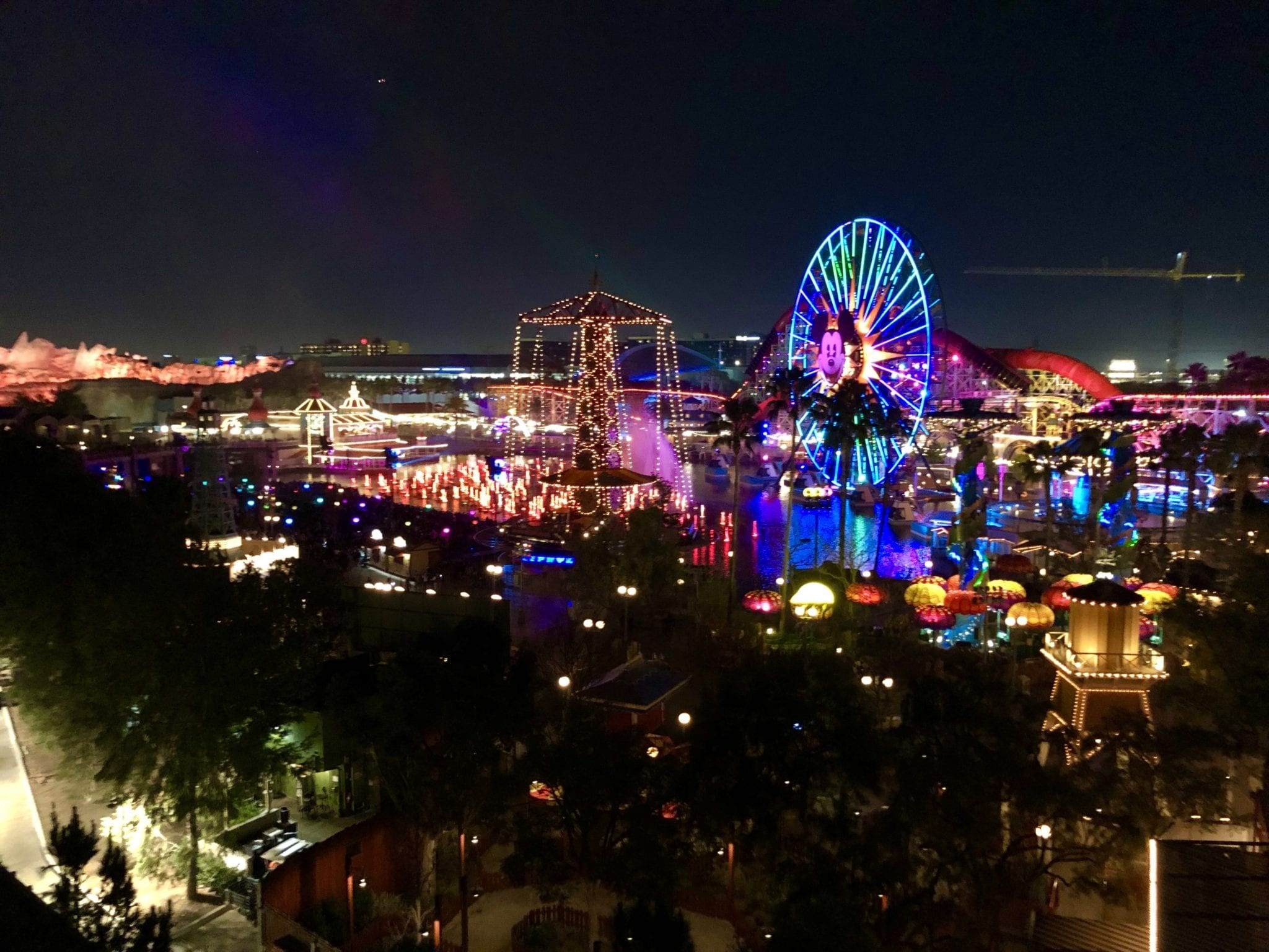Time lapse of California Adventure Park
