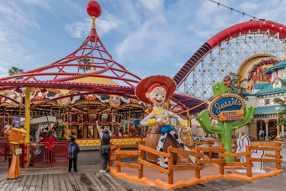 Jessie's Critter Carousel at Disney California Adventure Park