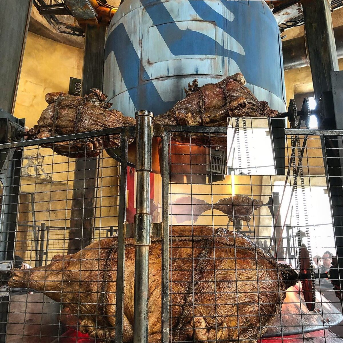 Pigs on Roasters, Black Fence and Blue Oven