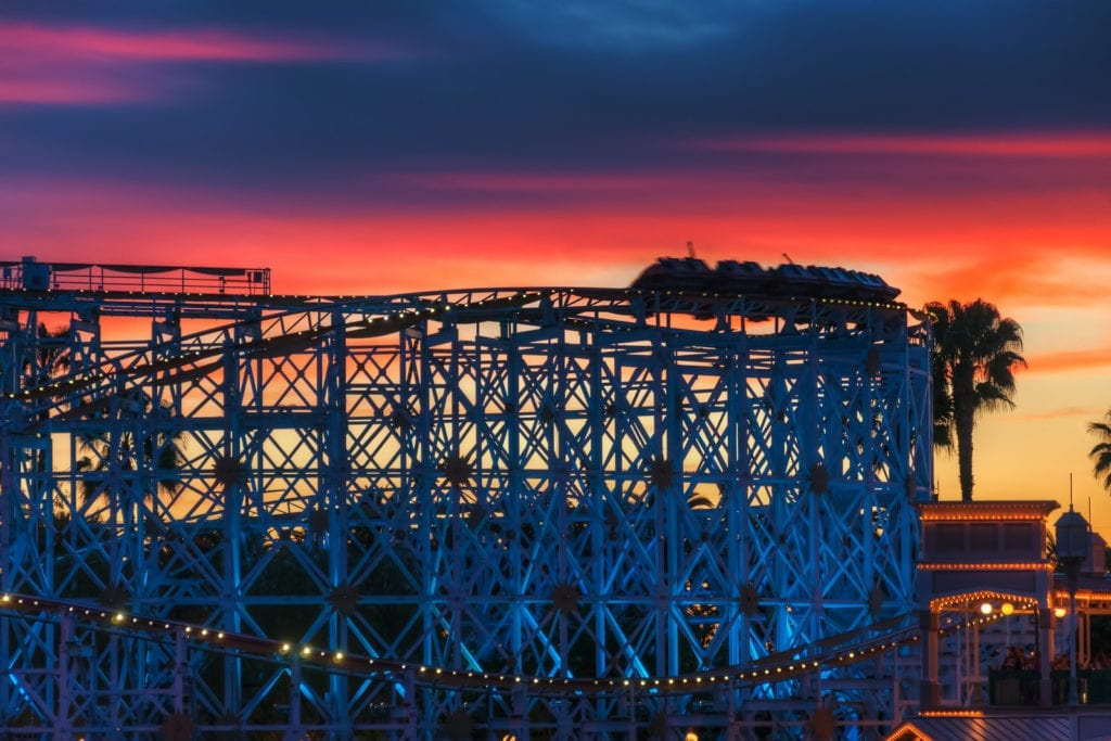 White Coaster as Sunset