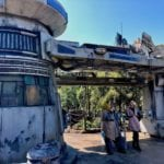 Cast Members Standing Outside of Star Wars Rise of the Resistance Ride Entrance