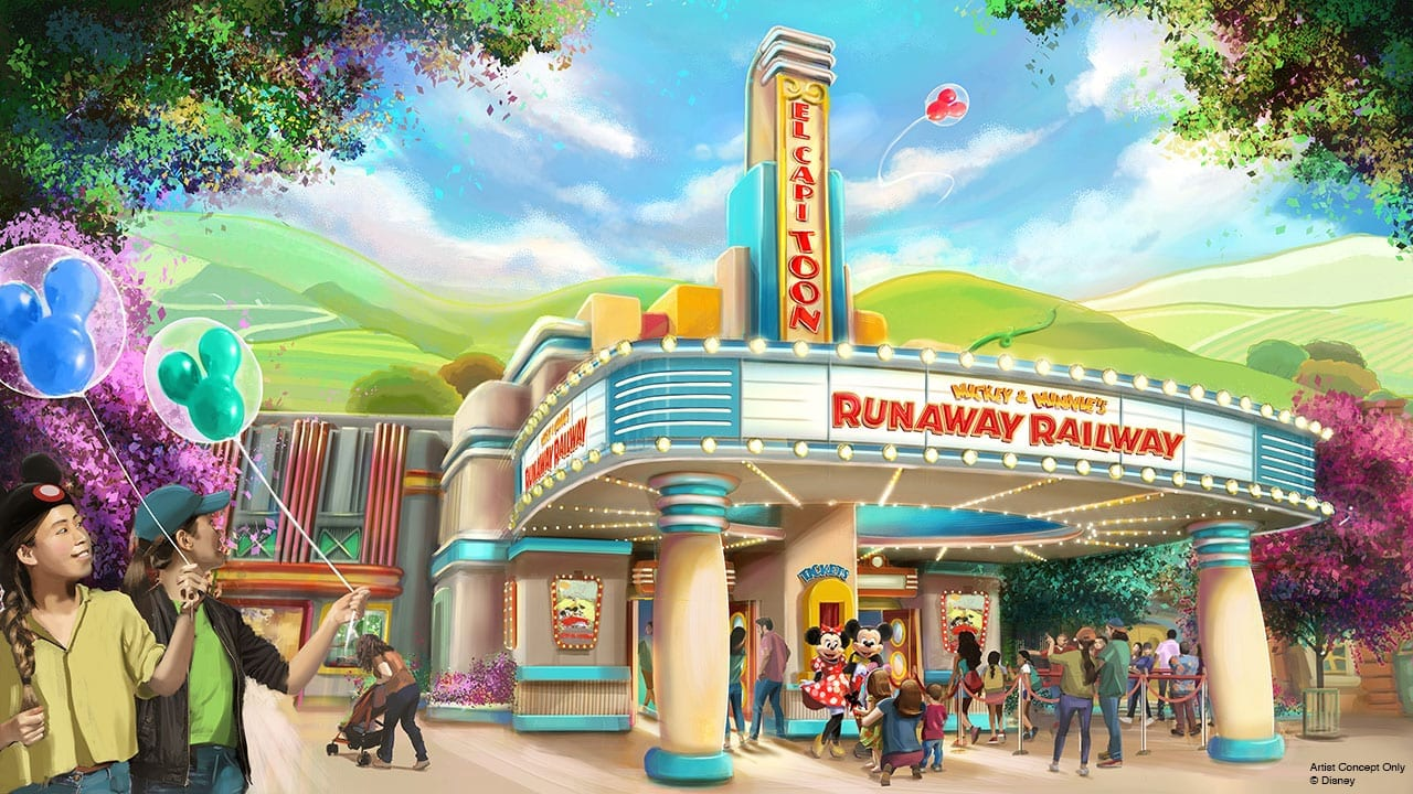 Mickey & Minnie's Runaway Railway to Open 2022 at Disneyland