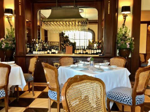 Club 33 Seating with Wine Bar