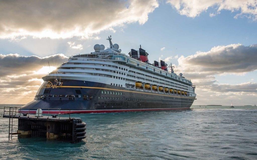 Disney Magic Cruise Ship at Sea