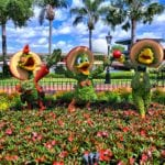 Huey, Dewey, and Louie Playing Instruments Topiary