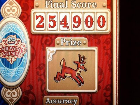 Toy Story Midway Mania Red Score Board
