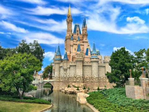 Cinderella's Castle with River and Trees