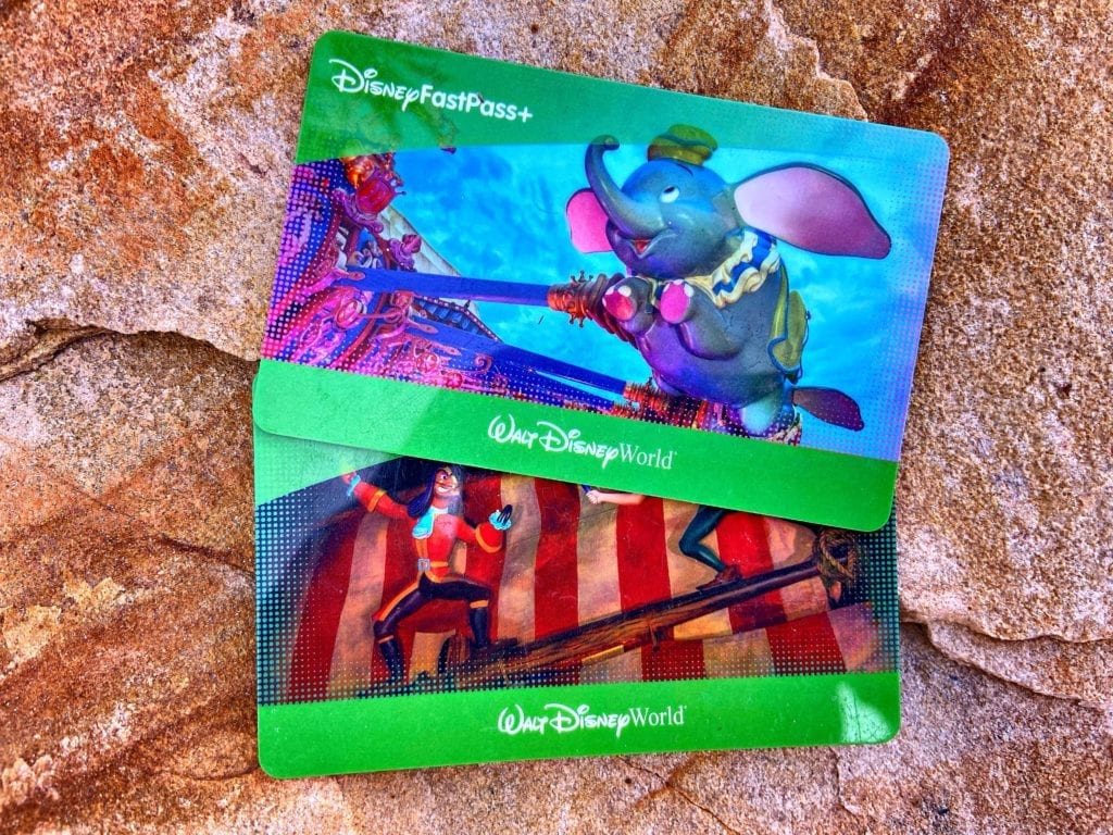 Two Walt Disney World FastPass+ Cards