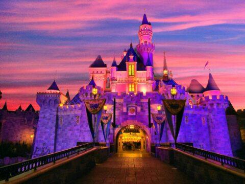 Sleeping Beauty's Castle at sunset