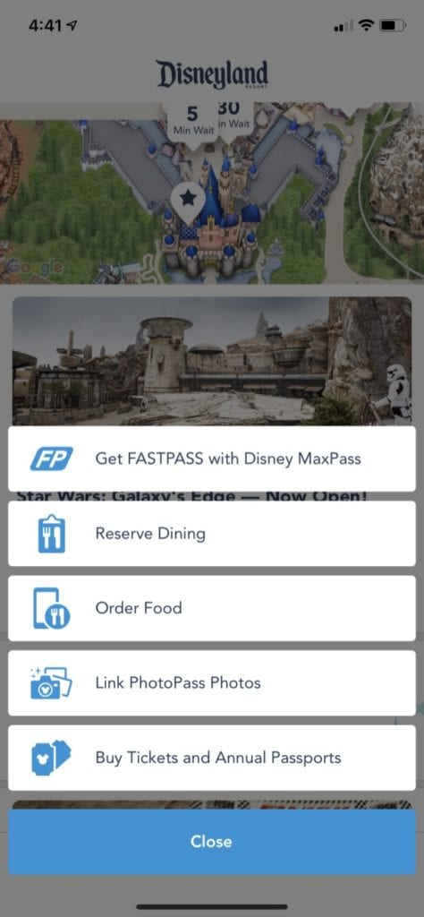 Disneyland Mobile Order New Order