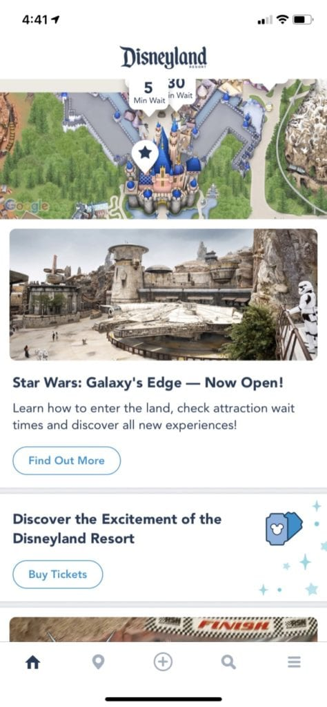 Disneyland Mobile Order
