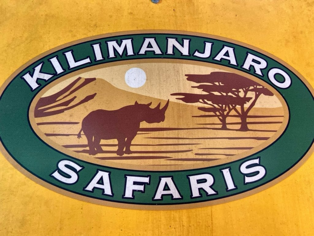 Kilimanjaro Safaris Attraction Sign