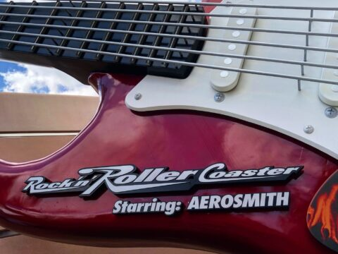 Rock 'n' Roller Coaster red and white guitar