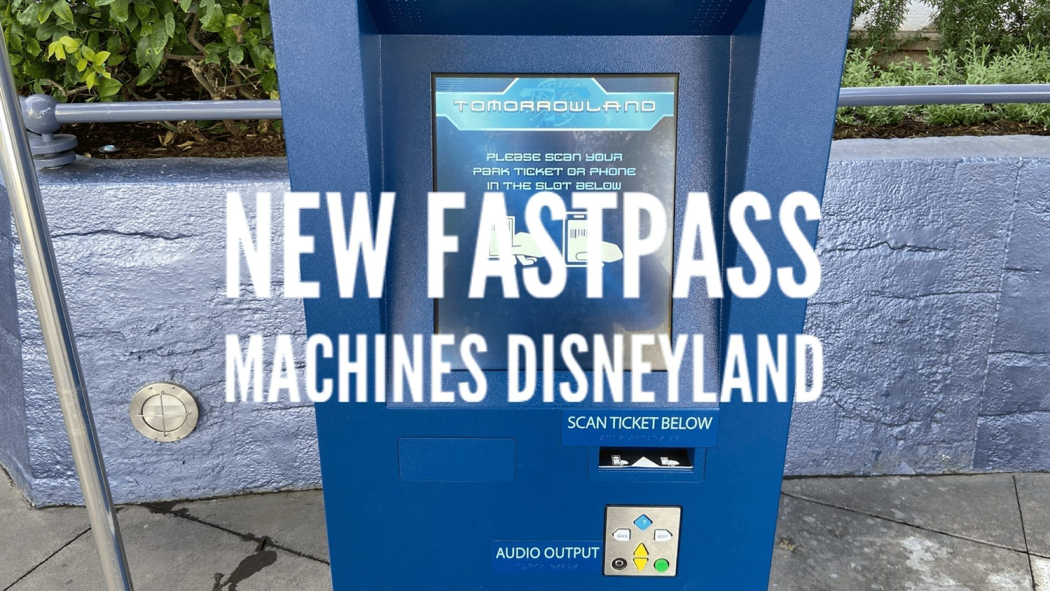 Tomorrowland Moves to New Fastpass Machines