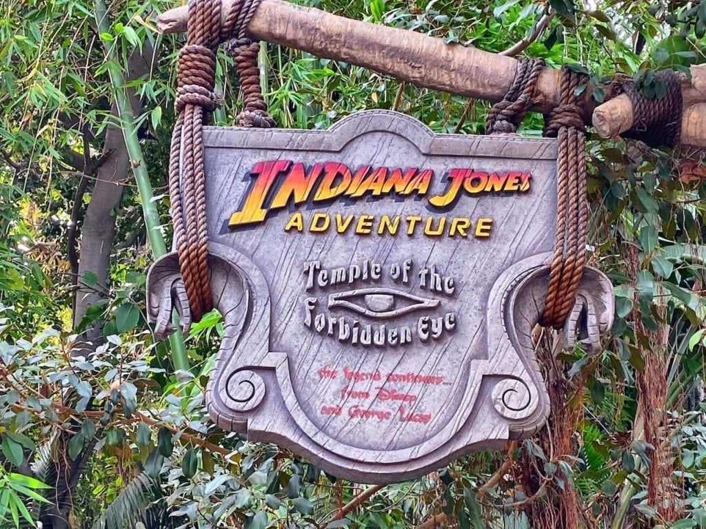 Indiana Jones Adventure Ride Sign