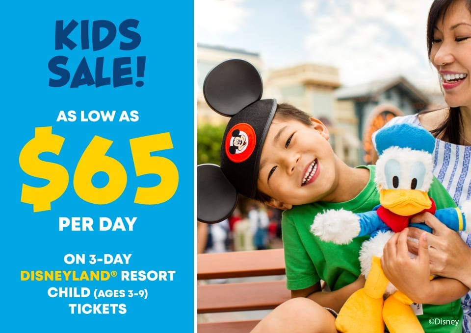 Kids Spring Sale On Disneyland Tickets – Save Over $100!