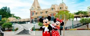 Mickey and Minnie at Hong Kong Disneyland