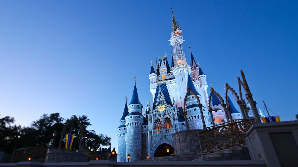 Disney World Castle in the evening