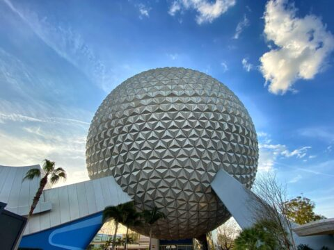 Epcot Spaceship in the morning