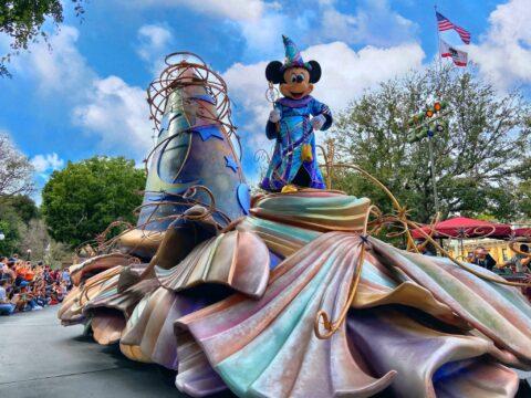 Sorcerer Mickey on parade float