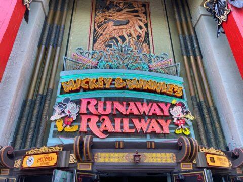 Mickey and Minnie Runaway Railway Entrance