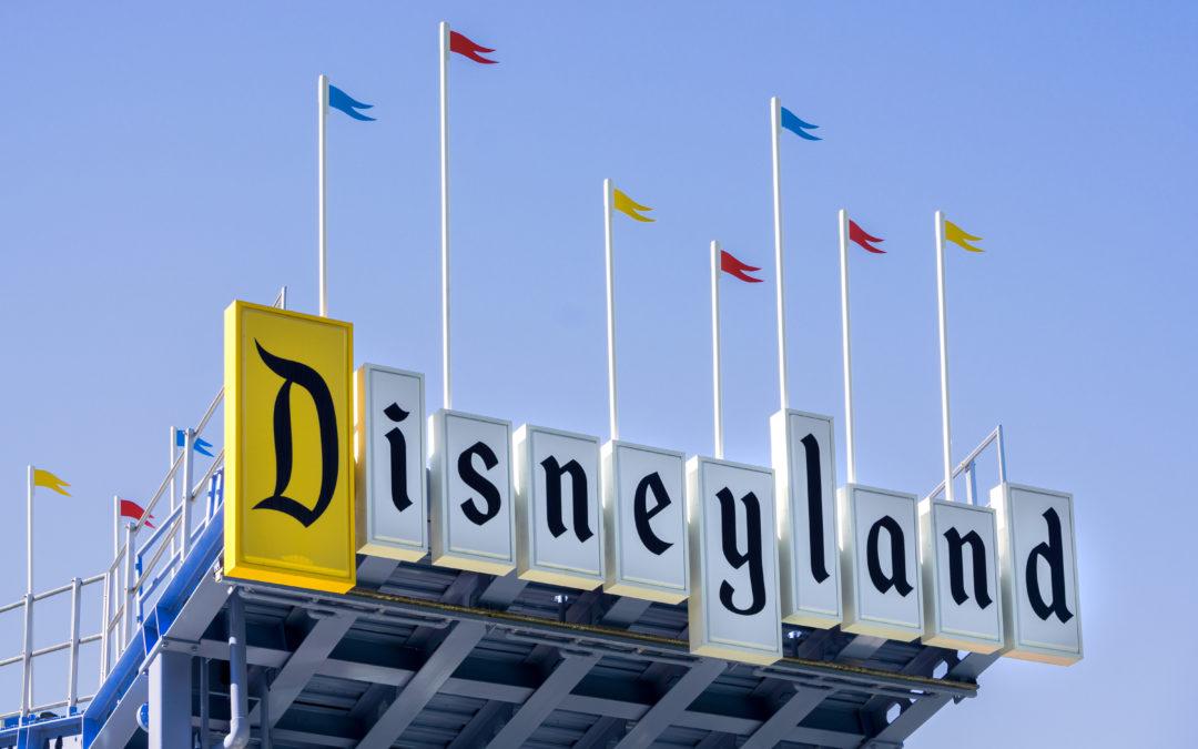 Disneyland Entrance Sign