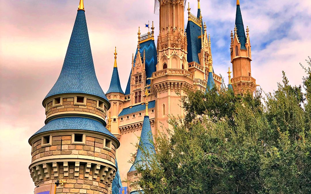 Cinderella's Castle in the evening