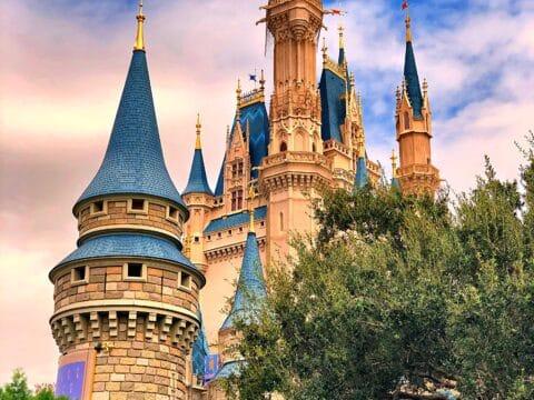 Cinderella's Castle in the evening
