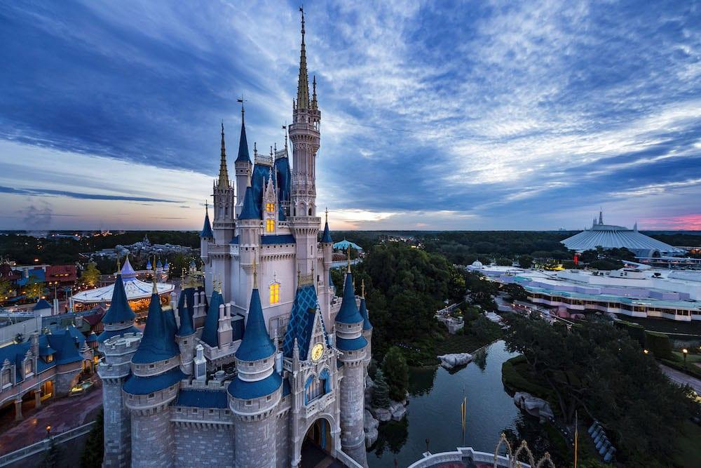 Disney World Magic Kingdom Aerial Photo