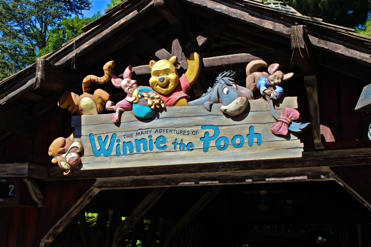 Winnie the Pooh attraction entrance