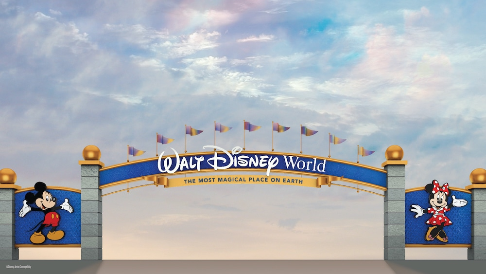Walt Disney World Updates Entrance Signs