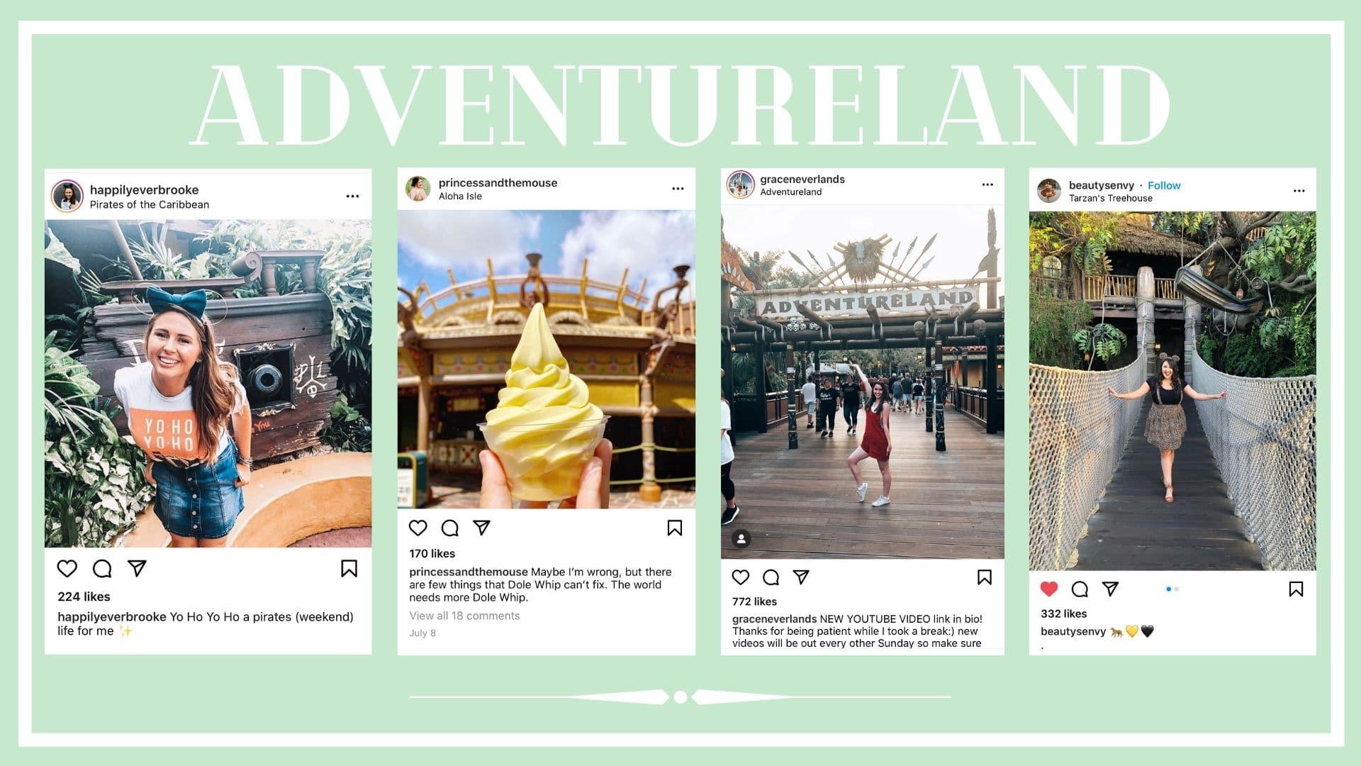 Instagram pictures from Adventureland in Disneyland