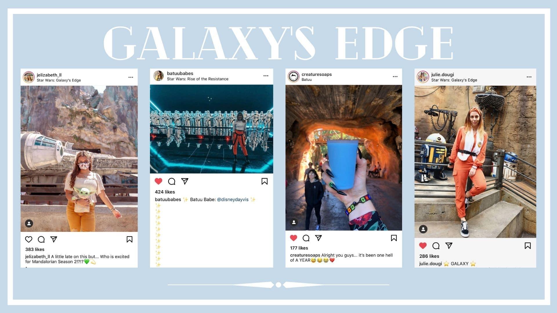 Instagram photos of Galaxy's Edge in Disneyland