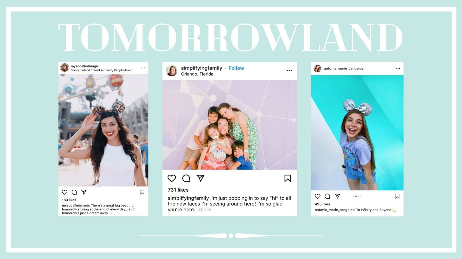 Instagram posts from Tomorrowland in Disneyland