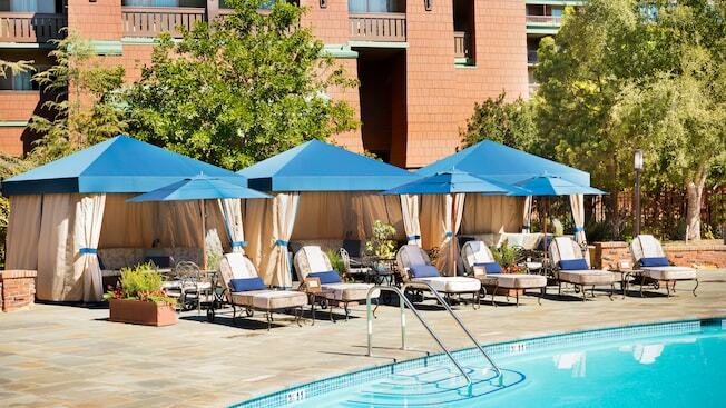 The GRand Californian hotel Pool with cabanas