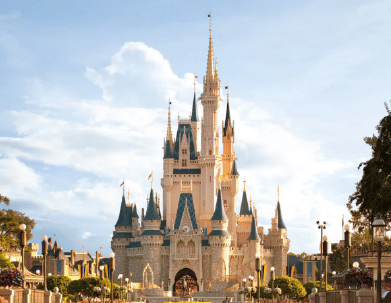Day view of cinderella's castle