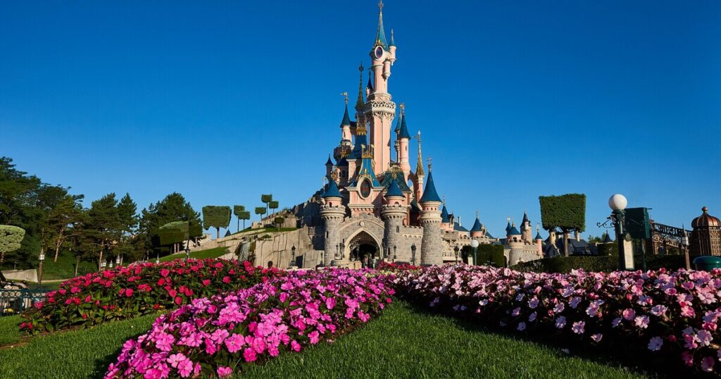View of Disneyland Paris Castle and grounds