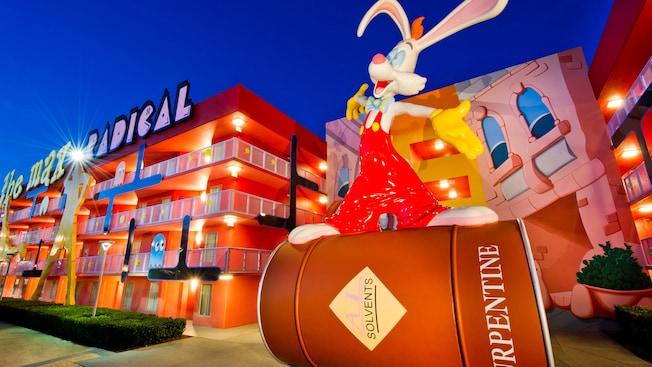 Roger Rabbit statue at Pop Century Resort