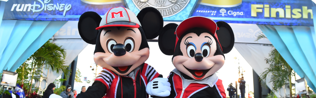 Mickey and Minnie is race clothes