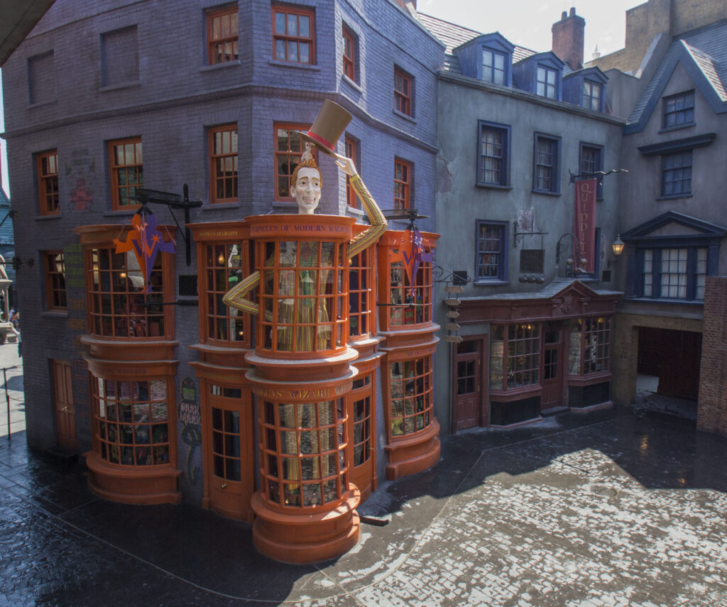 Diagon Alley Shops and cobblestone